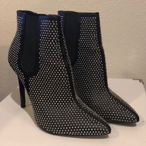 Zara Studs High Heels Ankle Boots 37 6 1/2